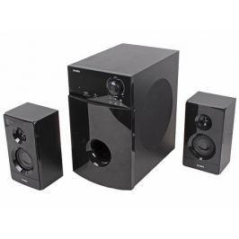 Колонки Sven MS-2100 2.1, мощность (RMS): 50Вт + 2х15Вт, SD/USB, FM-радио, VFD-дисплей, пульт ДУ