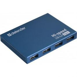Концентратор USB2.0 HUB Defender SEPTIMA SLIM 7порт. активный хаб (с адап. 2A)