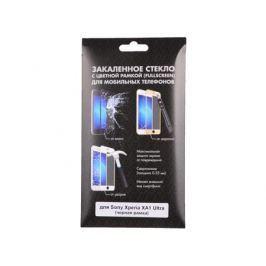Закаленное стекло с цветной рамкой (fullscreen) для Sony Xperia XA1 Ultra DF xColor-07 (black)