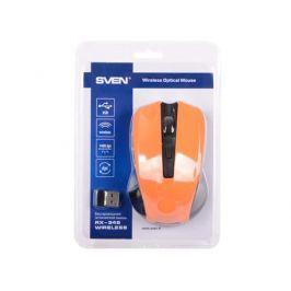 Мышь беспроводная Sven RX-345 оранжевый USB + радиоканал