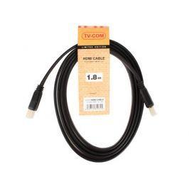 Кабель HDMI 19M/M 1.4V плоский 1.8m TV-COM (CG200F-1.8M)