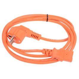 Кабель компьютер-розетка 220V (EURO) (VDE) 1,8м 3G0,75mm2 VCOM {CE021-O}, оранжевый