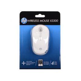 Мышь беспроводная HP X3300 белый USB H4N94AA