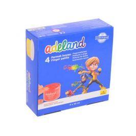 Краски пальчиковые Adel ADELAND 4 цвета 234-0630-100
