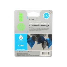 Картридж Cactus CS-C8771 №177 (голубой) для HP PhotoSmart 3213/3313/8253/C5183/C6183/C6283/C7183/C7283/C8183/D7163/D7263/D7363/D7463