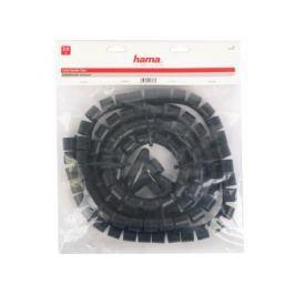 Кабель-органайзер Hama H-20643 25мм пластик черный 2.0м