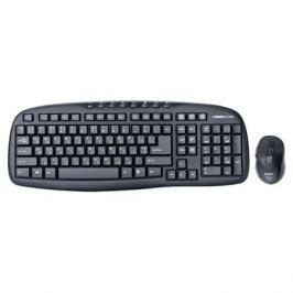 Беспроводной набор клавиатура+мышь SVEN Comfort 3400 Wireless, чёрный, 104+8 клавиш, классическая раскладка, 5+1 клавиш мыши, Blue LED