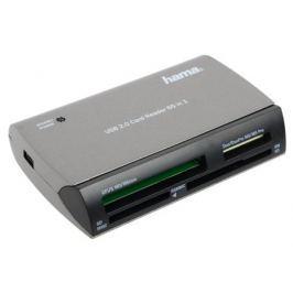 Картридер внешний Hama H-49009 USB 2.0 35в1 серебристый