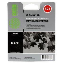 Картридж Cactus CS-CLI521BK для CANON PIXMA MP540/ MP550/ MP620/ MP630/ MP640/ MP660/ MP980/ MP990; iP3600/ iP4600/ iP4700; MX860, черный, 1505 стр.,