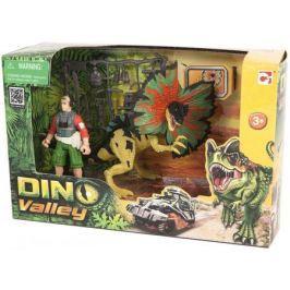 Игровой набор Chap Mei Дилофозавр и охотник со снаряжением 520151-1