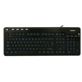 Клавиатура A4Tech KD-126, USB (черный) слим, подсветка, мультимед
