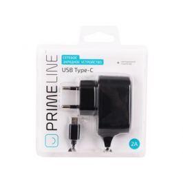 Сетевое зарядное устройство Prime Line 2318 USB Type-C, 2.1A, черный