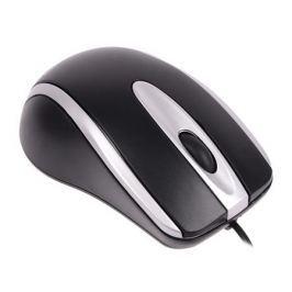 Мышь проводная Crown CMM-014 чёрный серебристый USB