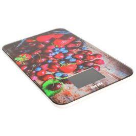 Электронные кухонные весы BBK KS107G темно-синий/красный