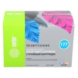 Комплект картриджей Cactus CS-C8771/2/3/4/5 №177 для HP PhotoSmart 3213/3313/8253/C5183/C6183/C6283