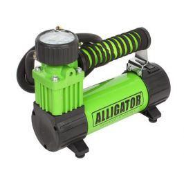 Компрессор автомобильный АЛЛИГАТОР AL-300Z, металлический, 12V, 100W, производ-сть 26 л./мин., спонж. рукоятка, переходники для накач., сумка, 1/8