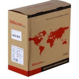 Сетевой кабель бухта 100м UTP 5e Telecom Ultra TUS44148E 4 пары, одножильный, 24AWG/0.51мм