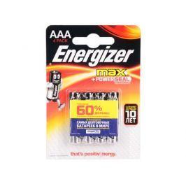 Батарейки Energizer Max AAA 4шт. в блистере (E300157300/E300157303)
