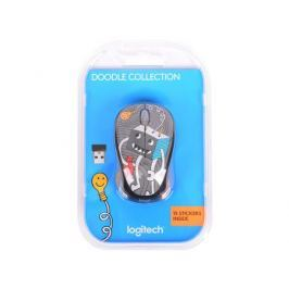 Мышь (910-005049) Logitech Wireless Mouse M238 Doodle Collection LIGHTBULB