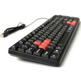 Клавиатура Dialog KS-030U USB черный красный
