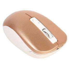 Мышь беспров. Gembird MUSW-400-G, бело-золотой, бесшумный клик, 3кн.+колесо-кнопка, 2.4ГГц, 1600 dpi, блистер