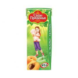 Сок Сады Придонья Яблоко и абрикос с мякотью с 5 мес. 200 мл