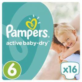 Подгузники Pampers Active Baby-Dry 6 (15+ кг) 16 шт.