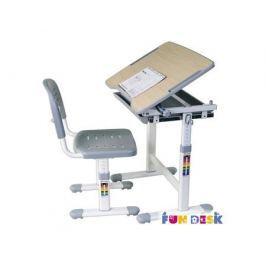 Комплект мебели FunDesk «Piccolino» стол 66х47 см и стул серый