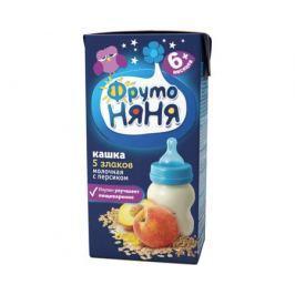 Каша готовая молочная ФрутоНяня пять злаков с персиком с 6 мес. 200 мл