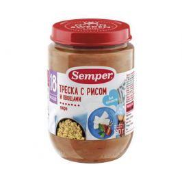 Пюре Semper Треска с рисом и овощами с 18 мес. 190 г