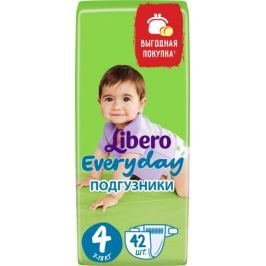 Подгузники Libero Everyday 4 (7-18 кг) 42 шт.