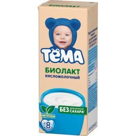 Биолакт Тёма Кисломолочный без сахара 3,4% с 8 мес. 206 мл
