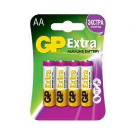 Батарейка GP Extra AA алкалиновая 4 шт