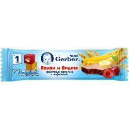 Батончик Gerber фруктово-злаковый с вишней и бананом с 12 мес. 25 г