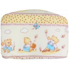Комплект в кроватку Луняшки «Мишка с медом» 7 пр. бежевый