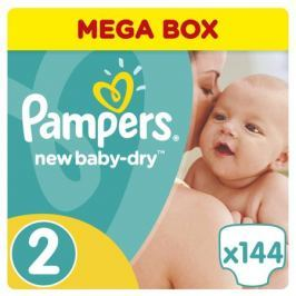 Подгузники Pampers New Baby-Dry 2 (3-6 кг) 144 шт.