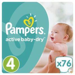 Подгузники Pampers Active Baby-Dry 4 (8-14 кг) 76 шт.
