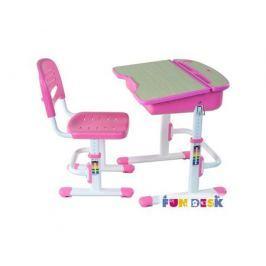 Комплект мебели FunDesk «Capri» стол 71х55 см и стул розовый