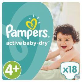 Подгузники Pampers Active Baby-Dry 4+ (9-16 кг) 18 шт.
