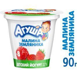 Йогурт Агуша Малина-земляника 2,7% с 8 мес. 90 г