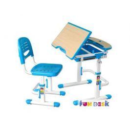 Комплект мебели FunDesk «Sorriso» стол 71х55 см и стул голубой