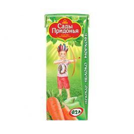 Нектар Сады Придонья Яблоко и морковь с мякотью с 6 мес. 200 мл