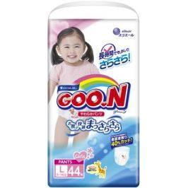 Трусики-подгузники Goo.N для девочек L (9-14 кг) 44 шт.