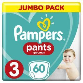 Трусики-подгузники Pampers Pants 3 (6-11 кг) 60 шт.