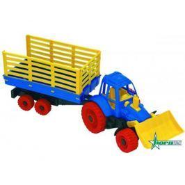 Трактор Нордпласт с грейдером и прицепом 57 см
