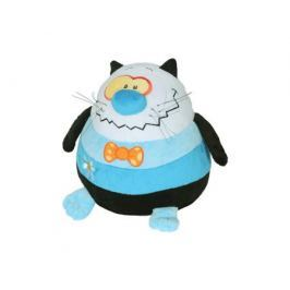 Мягкая игрушка СмолТойс «Кот-шарик» 27 см черно-голубая