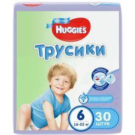 Трусики-подгузники Huggies для мальчиков 6 (16-22 кг) 30 шт.