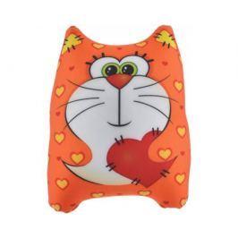 Игрушка-антистресс СмолТойс «Котик» 25 см оранжевая