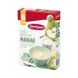 Каша молочная Semper манная с яблоком, грушей и бананом с 6 мес. 200 г