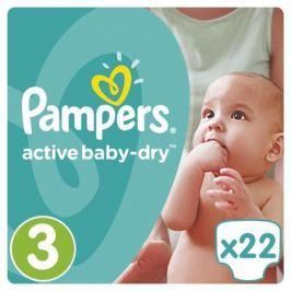 Подгузники Pampers Active Baby-Dry 3 (5-9 кг) 22 шт.